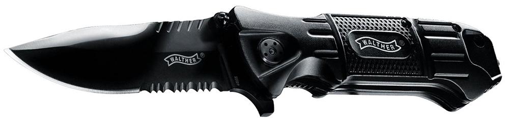 Einhandmesser Walther Black Tac Griffmaterial Aluminium