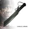 Deluxe Outdoormesser Jagdmesser im Stil 'Rambo IV' (K-SUR-4) mit Lederetui und Gürtelhalter -