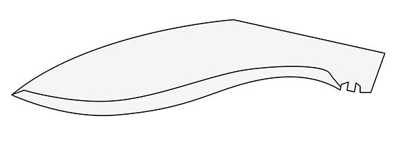 Klingenform Kukri