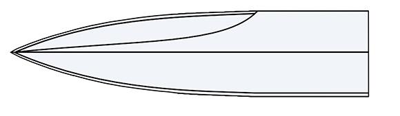 Klingenform Spear Point
